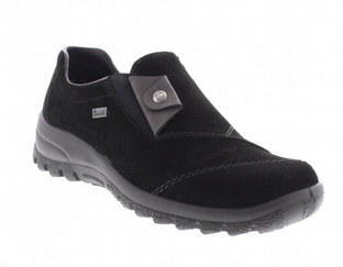 Rieker L7173-00 Ladies Black Slip On Shoes
